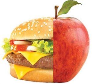 Бургер или яблоко